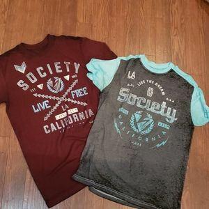 Society mens heathered tshirts